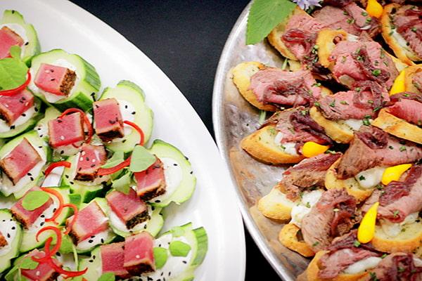catering platter closeup tuna beef | Venue Catering Lincoln, NE
