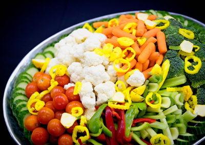 catering veggie plate